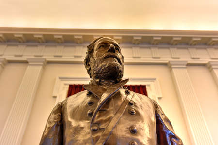Richmond, Virginia - February 19, 2017: Confederate monument in the Old House Chamber in the Virginia State Capitol in Richmond, Virginia.
