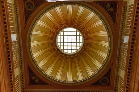 rotunda: Richmond, Virginia - Feb 19, 2017: Cupola in the Virginia State Capitol in Richmond, Virginia.