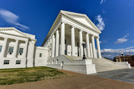 The Virginia State Capitol, designed by Thomas Jefferson who was inspired by Greek and Roman Architecture in Richmond, Virginia.