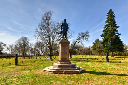 Monument to General Humphrey on a Battlefield in Fredericksburg, Virginia