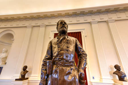 Richmond, Virginia - 19 februari 2017: Verbonden monument in de oude huiskamer in het Virginia State Capitol in Richmond, Virginia.