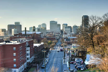 Richmond, Virginia - Feb 19, 2017: Skyline from Libby Hill in Richmond, Virginia.