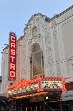 San Francisco, California - February 14, 2010: Castro Theater on Castro Street, San Francisco, California, United States. The Castro Theater is a popular San Francisco movie palace.