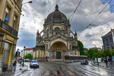 Brussels, Belgium - May 11, 2017: Saint Marys Royal Church in Brussels, Belgium. Editorial
