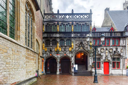 unesco: The Basilica of the Holy Blood in Market Square Bruges, West Flanders, Belgium, a UNESCO World Heritage Site.