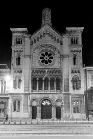 The Great Synagogue of Europe, formerly known as the Great Synagogue of Brussels, is the main synagogue in Brussels, Belgium which was dedicated as a focal point for European Jews in 2008. Stock Photo