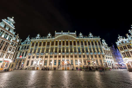 Grand Place in Brussels, Belgium at night.