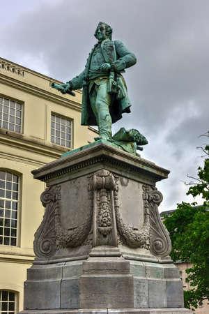 Statue à charles de lorraine en belgique belgique Banque d'images - 80507032
