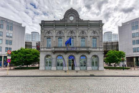 European parliament (EU) buildings in Brussels, Belgium.