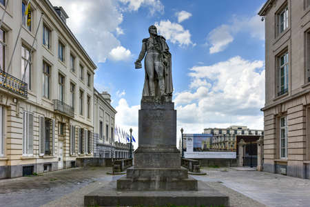 Statue of Augustin Daniel Belliard, comte Belliard et de lEmpire who was a French general under Napoleon. In Brussels, Belgium. Editorial