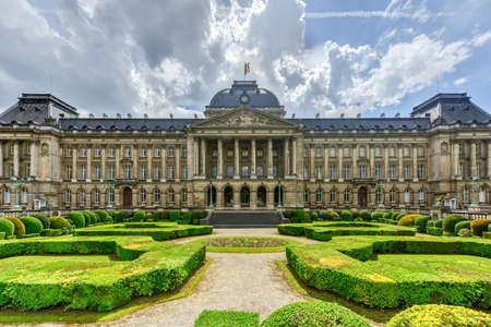 The Royal Palace in Brussels, Belgium. It is the official palace of the King and Queen of the Belgians in the centre of the nation's capital Brussels.