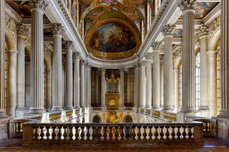 The chapel in the Palace of Versailles in France.