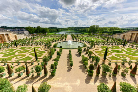 The famous Palace of Versailles in France.