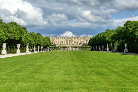 Il famoso palazzo di Versailles in Francia Archivio Fotografico - 80874340