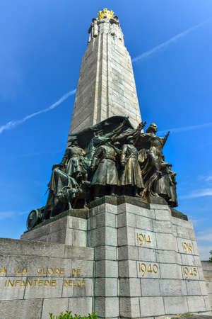 infantry: The Infantry Memorial of Brussels stands in memory of the Belgian foot soldiers who fought in World War I and World War II.
