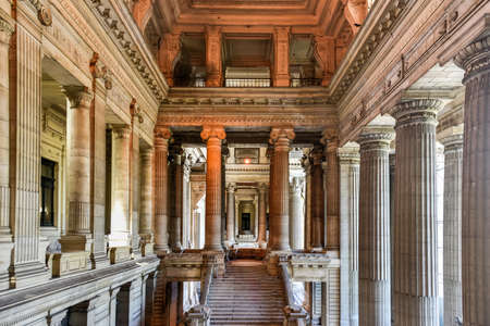 eclecticism: Justice Palace (Palais de Justice) in Brussels, Belgium. The eclectic and neoclassical style building serves as the headquarters of several important law courts. Editorial