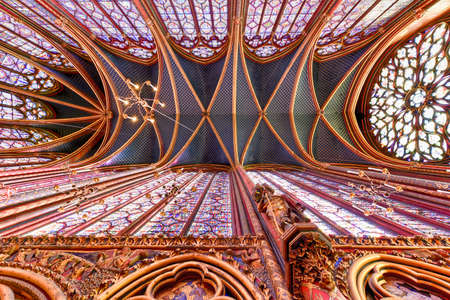 The Sainte-Chapelle is a royal chapel in the Gothic style, within the medieval Palais de la Cite, the residence of the Kings of France until the 14th century, on the Ile de la Cite in Paris, France.