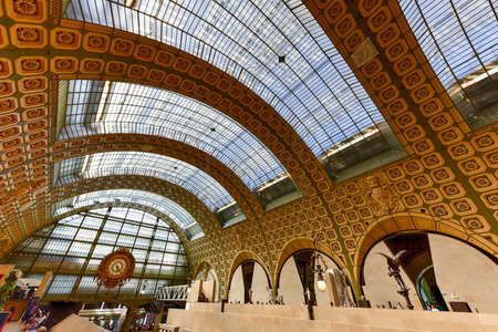 france station: Paris, France - May 16, 2017: TheMusee dOrsay, a museum in Paris, France. It is housed in the formerGare dOrsay, aBeaux-Artsrailway station built between 1898 and 1900.