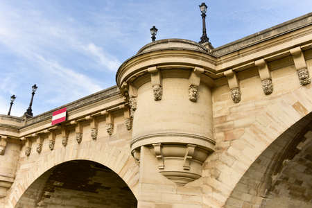 The Pont Neuf is the oldest standing bridge across the river Seine in Paris, France.