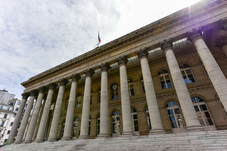 The Paris Bourse located in Brongniart palace in the 2nd arrondissement of Paris, France.