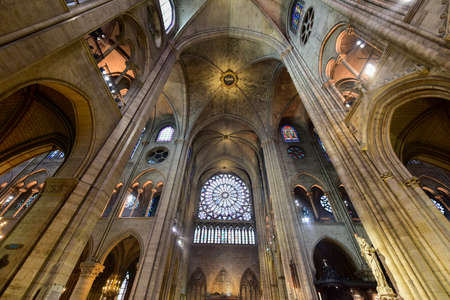 The interior of the Notre Dame de Paris, France Stock Photo - 81906652