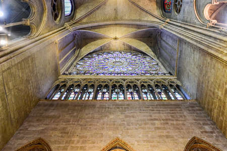 The interior of the Notre Dame de Paris, France Stock Photo - 81906681