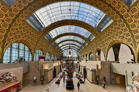 Paris, France - May 16, 2017: The Musee dOrsay, a museum in Paris, France. It is housed in the former Gare dOrsay, a Beaux-Arts railway station built between 1898 and 1900.