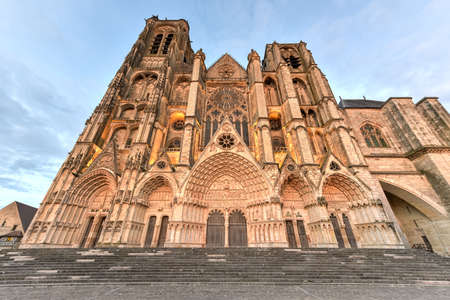 Bourges Cathedral, Roman Catholic church located in Bourges, France. It is dedicated to Saint Stephen and is the seat of the Archbishop of Bourges.