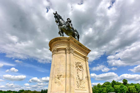 Equestrian Statue of Henri de Montmorency at Chateau de Chantilly, France.