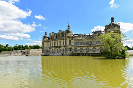 chantilly: Chateau de Chantilly, historic chateau located in the town of Chantilly, France.