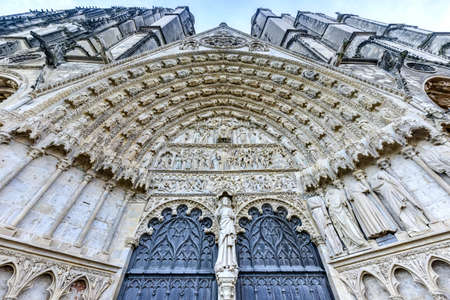 spiritual architecture: Bourges Cathedral, Roman Catholic church located in Bourges, France. It is dedicated to Saint Stephen and is the seat of the Archbishop of Bourges.