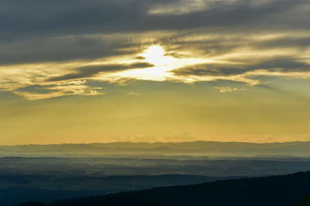 View of the Shenandoah Valley and Blue Ridge Mountains from Shenandoah National Park, Virginia
