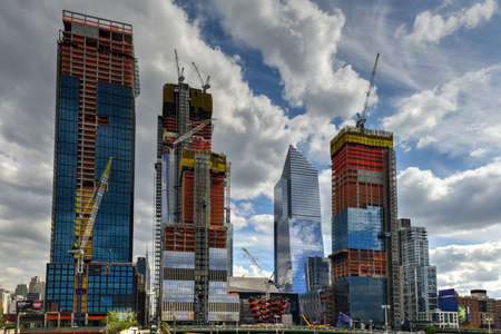 Office tower in the Hudson Yards in Manhattan, New York City Editorial