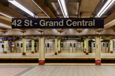 New York City - October 14, 2017: 42 St - Grand Central Subway Station in New York City. Editorial