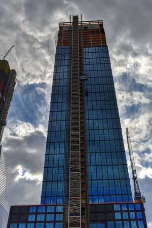 Office tower in the Hudson Yards in Manhattan, New York City Stock Photo