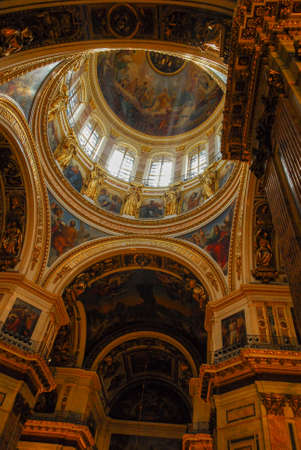 Interior of Saint Isaacs Cathedral, iconic landmark in St. Petersburg, Russia