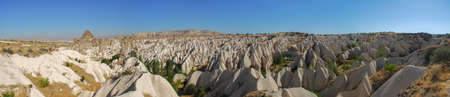 Panorama of the Meskendir Valley in Cappadocia, Turkey is a total length of 4400m and is situated near Ortahisar.