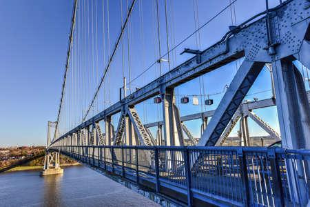 Mid-Hudson Bridge crossing the Hudson River in Poughkeepsie, New York Stock Photo