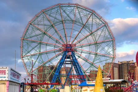 New York City - December 10, 2017: Wonder Wheel in Luna Park. Its an amusement park in Coney Island opened on May 29, 2010 at the former site of Astroland, named after original park from 1903. Editorial
