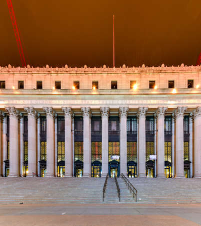 James Farley Post Office in New York, NY. The building dates from 1812 and is being adaptively converted to house a concourse for Amtrak. Editorial