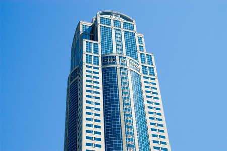 Seattle, Washington - 20 août 2005: Le 1201 Third Avenue (anciennement la Washington Mutual Tower) est un gratte-ciel de 55 étages de 235,31 m (772 pi) situé au centre-ville de Seattle, dans l'État de Washington. Banque d'images - 92691552