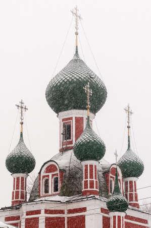 The Church of Alexander Nevsky and the Vladimir Cathedral in Pereslavl-Zalesskiy, Yaroslavl region, Russia Stock Photo