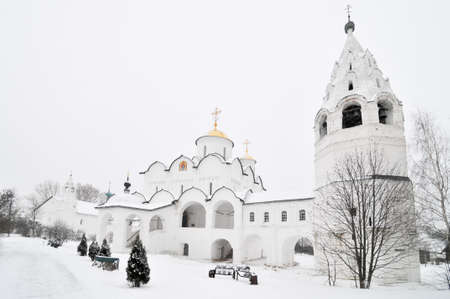 Pokrovsky Monastery in the ancient town of Suzdal in the Golden Ring of Russia.