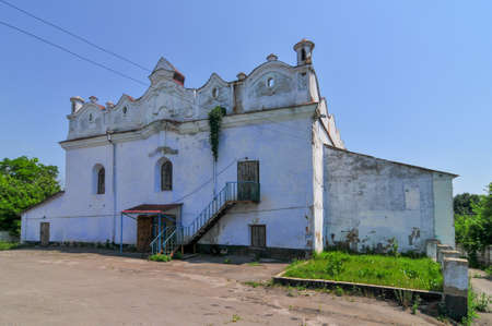 Shargorod Synagogue, built in 1589. During the Soviet era it was converted to a wine factory, whereas now it has been returned to the Jewish community.