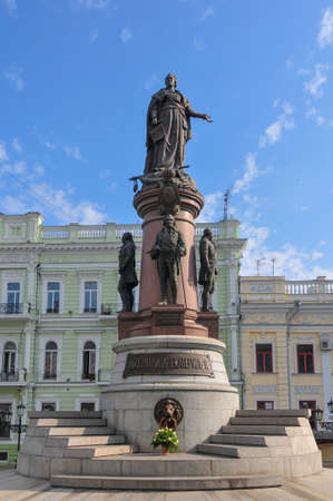 Monument of Catherine II the Great and to the founders of Odessa in Odessa, Ukraine. It was constructed in 1900.