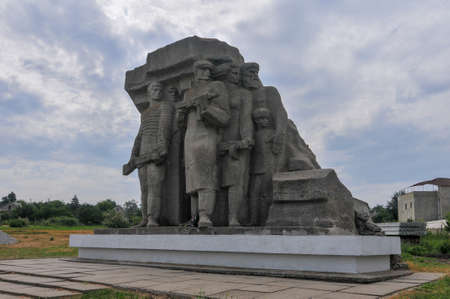 Monument to Partisans who fought against fascism in Odessa, Ukraine.