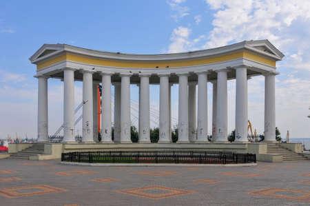 Colonnade at Vorontsov Palace in Odessa,  Ukraine 報道画像