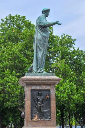Duke Richelieu statue, Odessas first Mayor, in Odessa, Ukraine.