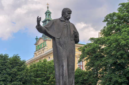 Monument of Taras Shevchenko. The monument was unveiled on the Prospect of Freedom on August 24, 1992.