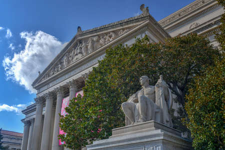 The National Archives Building in Washington DC, USA